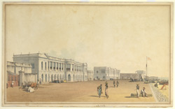S. E. view of the Board of Trade and Customs House, the Beach, Madras
